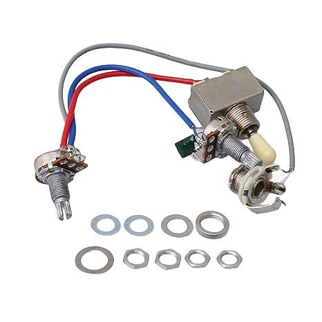 Conmutador de cableado Yibuy precargado 1V1T Interruptor de palanca de 3 vías para reemplazo de guitarra