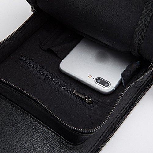 Fashion Grey Men Laidaye Shoulder Pu Package Business Chest Bag qnBnp5wZFx