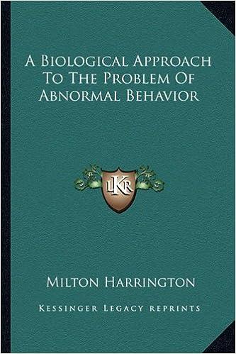 biological model of abnormal behavior