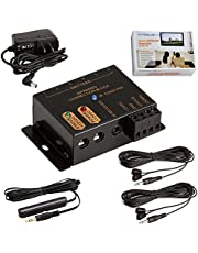 Cmple - Premium Hidden IR Control System up to 18 Devices, Remote Control Repeater System Kit IR Emitters Extender