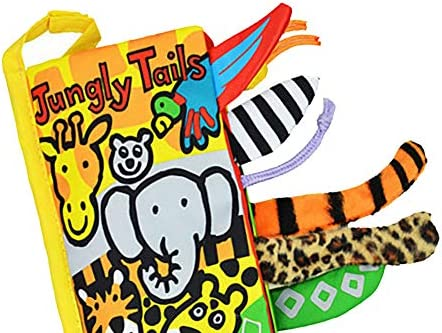 Children Cartoon Cloth Book Stereo Animal Tails Baby Children Bed Decoration Early Educational Toy Interactive Development Toys Jungle Tail