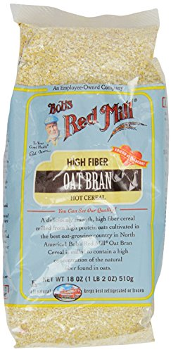 One 18 oz Bob's Red Mill Oat Bran Cereal (Bran Oat)