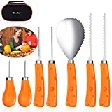 : IBASETOY Halloween Pumpkin Carving Kit Halloween Carving Tools 7 Pieces