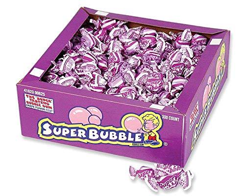 Super Bubble Grape Bubble Gum - 300 per pack -- 8 packs per case.