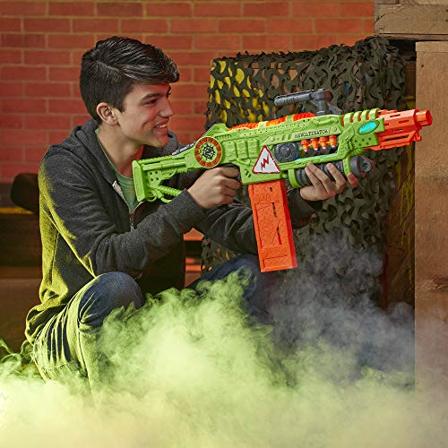514qaMqntHL - NERF Revoltinator Zombie Strike Toy Blaster with Motorized Lights Sounds & 18 Official Darts for Kids, Teens, & Adults