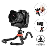 Camera/Phone Tripod,Zyan 12 Inch Flexible Camera Tripod For GoPro/Canon/Nikon/Sony DSLR Cam/Gopro Action Cam, Phone Tripod Stand with Cell Phone Holder Clip For iPhone/Android Phone(3 in 1)