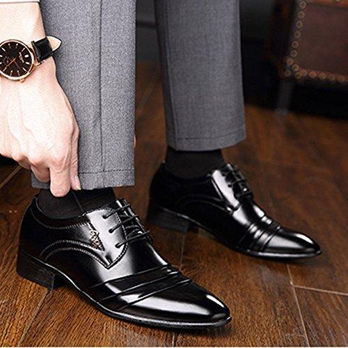 Punta A Size Oxford Plus Office Derby Lace Uomo Stringate Scarpe 39 Business Classic Uniformi Up da Casual Scarpe Formal Uomo Wedding Scarpe 46 Black Scarpe 7wqRxpcOIx
