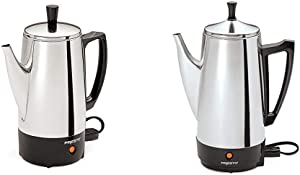 Presto 02822 6-Cup Stainless-Steel Coffee Percolator & 02811 12-Cup Stainless Steel Coffee Maker