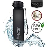 720°DGREE Water Bottle uberBottle by Sports Bottles - Tritan Plastic - BPA Free | Ideal Drinking for School, Fitness, Outdoor, Camping | Simple 1-Click Opening | Black, 1 Liter, 32oz