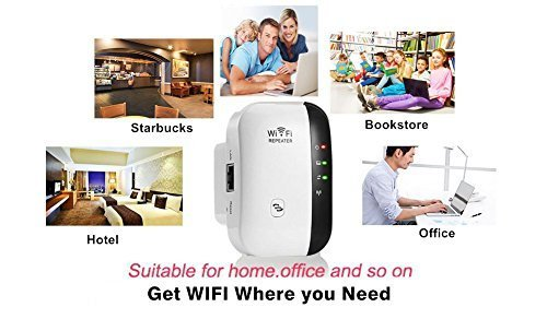 WiFi Range Extender WiFi Booster Wireless Repeater WiFi Extender Antenna AP/Repeater Long Range Extender Integrated Antenna,RJ45 Port, WPS Dual Band 300Mbps 2.4GHz (300Mbps) by FDG (Image #2)