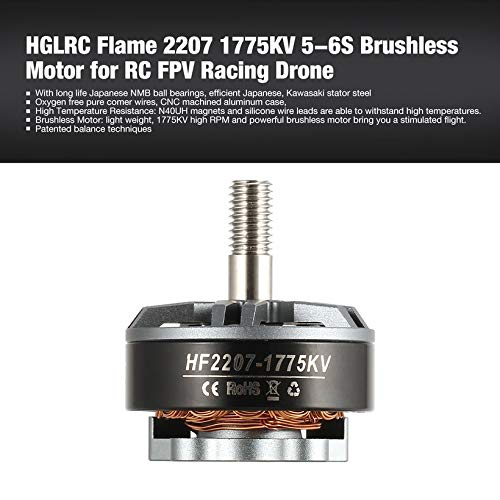 Wikiwand Hglrc Flame 2207 1775Kv 5-6S Brushless Motor for Rc FPV Racing Drone UAV by Wikiwand (Image #1)