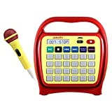 Hamilton Buhl Portable Digital Jukebox with CD Player and Karaoke Function, Red/Yellow (J22RCS1YR)