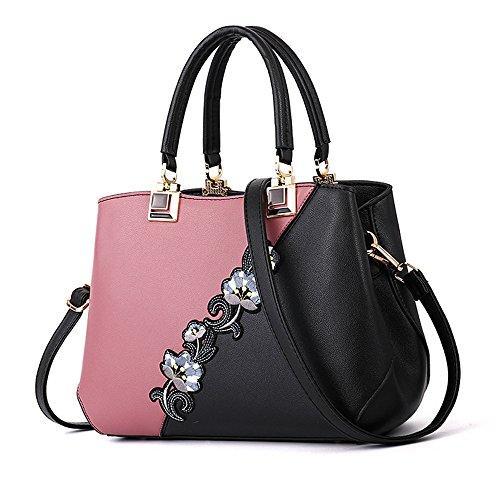 GWQGZ El Bolso De La Nueva Dama, Bandolera De Tendencia De Moda, Elegante, Gules Pink