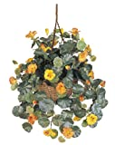 Nearly Natural 6025 Nasturtium Silk Hanging Basket, Multicolored
