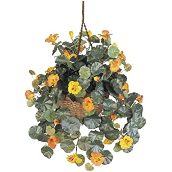 Nearly Natural 6025 22in. Nasturtium Silk Hanging Basket