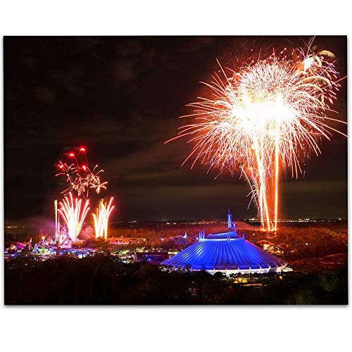 Fireworks Over the Magic Kingdom - 11x14 Unframed A Print - Makes a Great Gift Under $15 for Disney Fans