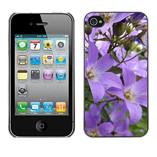 Premio Sottile Slim Cassa Custodia Case Cover Shell // F00014954 fleurs // Apple iPhone 4 4S 4G