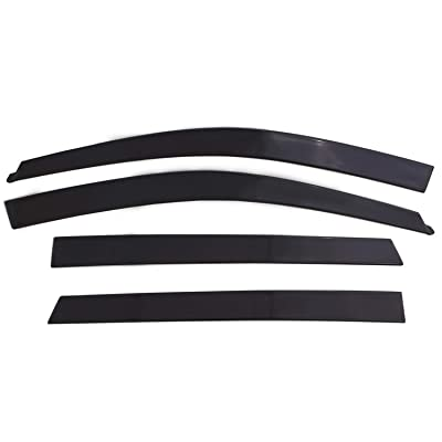 Auto Ventshade 994004 Low Profile Dark Smoke Ventvisor Side Window Deflector, 4-Piece Set for 2009-2020 Dodge Ram 1500-3500; 2020 Ram 1500 Classic | Fits Crew Cab: Automotive