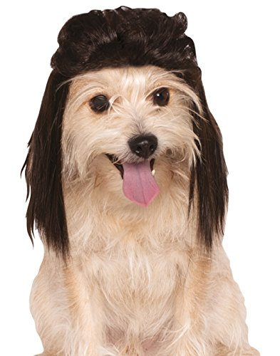 [Rubies Costume Company Mullet Pet Wig, Medium/Large, Brown] (Mullet Costumes Wig)