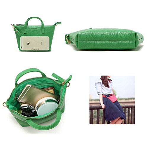 Satchel Bag Messenger Mini Women Hobo Handbag Donalworld Green Totes Shoulder PU Leather qgvfFpSw