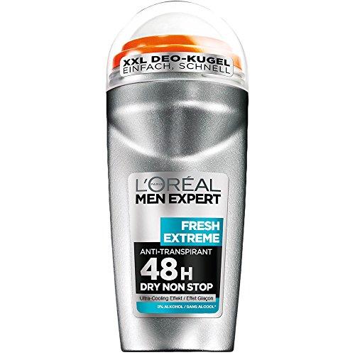 L'Oréal Paris Men Expert Deodorant Roll-On Fresh Extreme, 2er Pack (2 x 50 ml)
