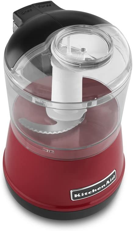 KitchenAid KFC3511ER 3.5-Cup Food Chopper - Empire Red (Renewed)