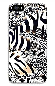Brian114 iPhone 5S Case - Cute Animals Zebra 4 Back Case Cover for iPhone 5 5S Hard 3D Cases