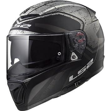 LS2 Casco de Moto Breaker Bold mate negro Titanium – M, negro/Titanium,