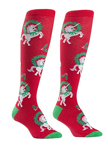 Sock It to Me, Horn for the Holidays, Women's Knee-High Funky Socks, Christmas, Holiday Socks