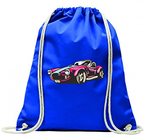 Turnbeutel hot Rod Sportwagen Oldtimer Young Timer Shellby Cobra GT Muscel Car America Motiv 9769 mit Kordel - 100% Baumwolle- Gymbag- Rucksack- Sportbeutel Blau Ma4eX3Um