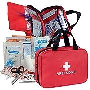 Erste-Hilfe Set, Kompakt First Aid Kit mit Premium-Tasche für Haus, Auto, Camping, Wandern, Sport, Arbeit, Büro, Boot…