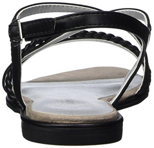 Tamaris 28129 - sandalias abiertas de material sintético mujer Negro (Black Matt 015)