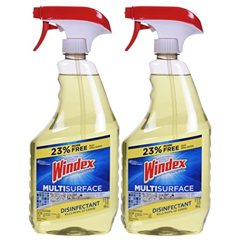 Windex Antibacterial Multi-Surface Cleaner, 32 Fl Oz Spray Bottle, Pack of 2