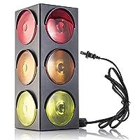 Kidsco semáforo de la lámpara-Plug-in, parpadeante de triple cara, 12.25 pulgadas-para los dormitorios de los niños, decoraciones, fiestas, celebraciones