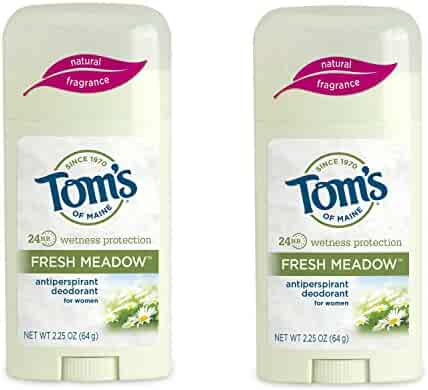 Tom's of Maine Women's Antiperspirant Deodorant Stick, Fresh Meadow, 2 Count