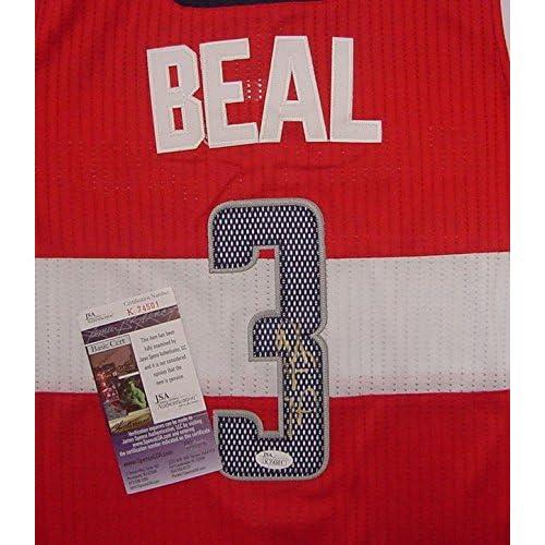 714067394 50%OFF Bradley Beal Washington Wizards Autographed Red #3 Jersey JSA COA
