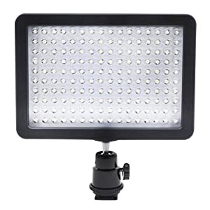 bestlight ultra high power 160 led video light panel with shoe adapter for canon. Black Bedroom Furniture Sets. Home Design Ideas