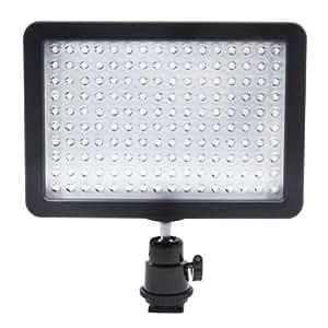 Neewer Bestlight - Panel para Canon, Nikon, Olympus, Pentax DSLR y videocámaras, 160 LED, 9.6 W, 7.5 V, 3200-5600K, color negro