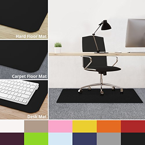 casa pura Office Chair Mats for Carpeted Floors - 30''x48'' | Carpet Protector Floor Mat, Black - BPA Free, Odorless | Matching Desk Mats Available by casa pura