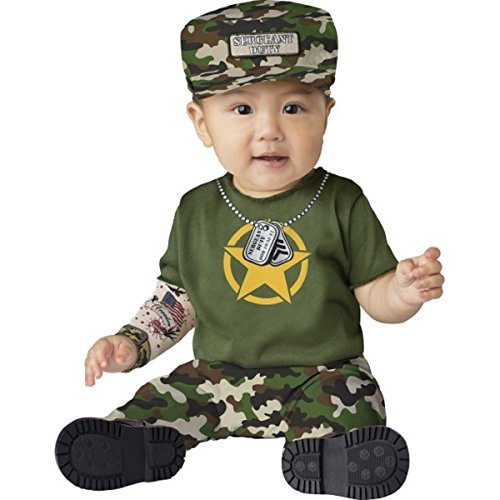Baby Army Uniform (Halloween Baby Costume - Private Duty 12-18M)