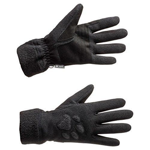 Jack Wolfskin Women's Caribou Gloves, Black, Small