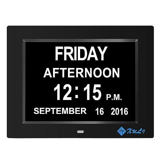 3 opinioni per Calendario Giorno Orologio Digitale con non abkuerzungen giorno e