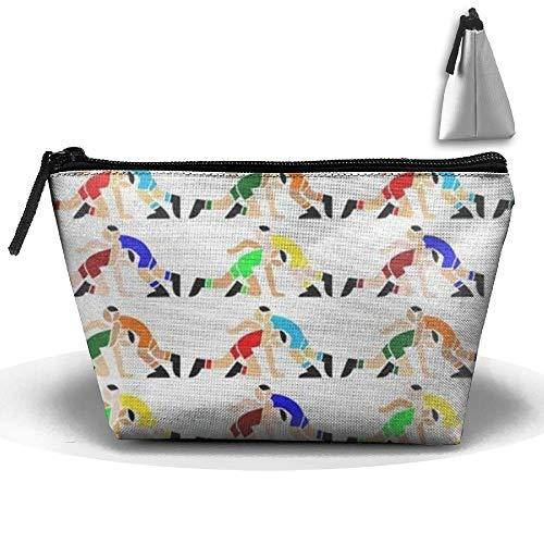 SDEYR79 Wrestling Wrestlers Pattern Cosmetic Bag,Toiletry Bag,Travel Cosmetic Bag Makeup Bag for Women Men by SDEYR79