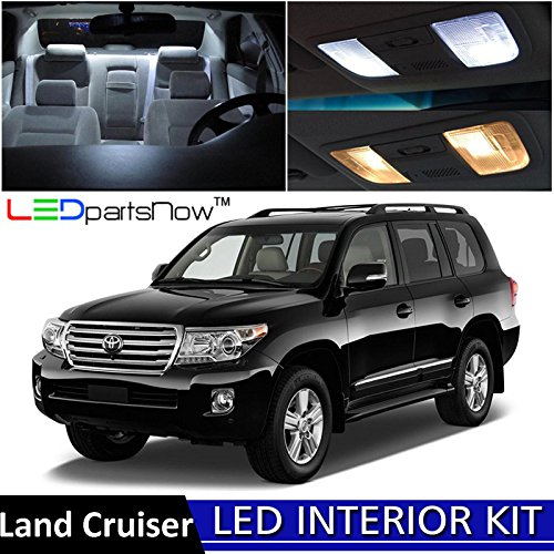 Toyota Land Cruiser Led (LEDpartsNow 2013-2017 Toyota Land Cruiser LED Interior Lights Accessories Replacement Package Kit (9 Pieces), WHITE)