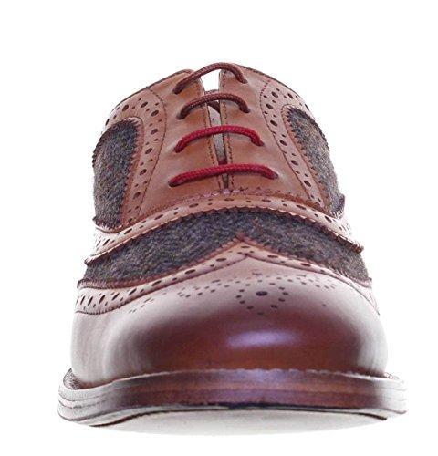 Justin Reece Truman - Zapatos de cordones de Piel para hombre, color Marrón, talla 47