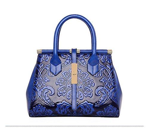 Zhiming Hombro única de bolso Messenger Bag Ling Wen temperamento de mujer de nu bolso chao princesa Bag Blue