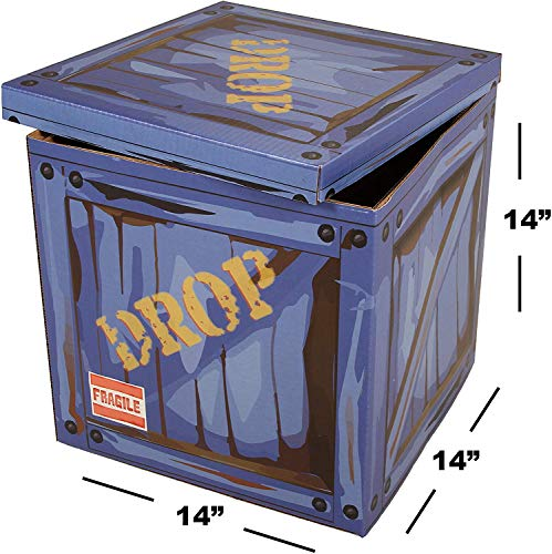 Large Loot Drop Box - Gamer Birthday Party Supplies - Goes with Merch, Chug Jugs, Pickaxes - Decor Gift Accessory (14