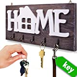 """Best Key Holder With Decorations - I.S.Company- Key Holder for Wall """"Home"""" Natural Wood Review"""