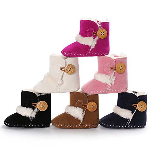 Image of Isbasic Unisex Baby Snow Boots Infant Soft Sole Fleece Antiskid Winter Shoes