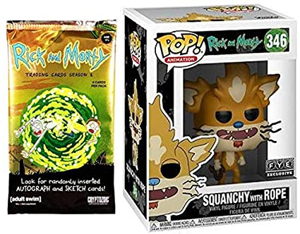 Amazon.com: Funko Rope Squanchy Figura Rick & Morty ...